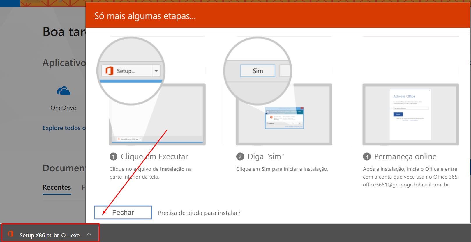 Ativar Office 365 – Somente Software – Sem e-mail – Skymail